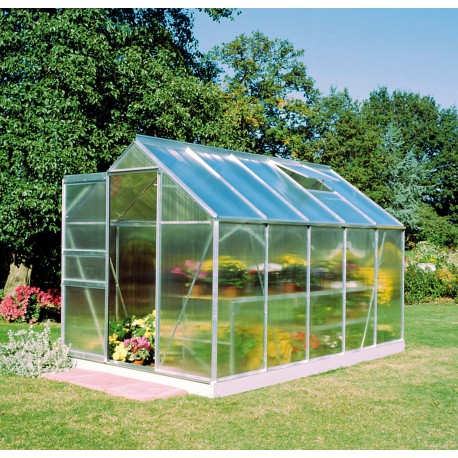Serre de jardin 6,2m² en polycarbonate 4mm Popular - Halls