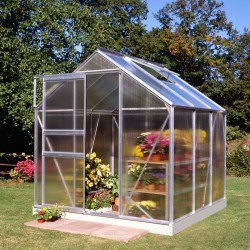 Serre de jardin 3,8m² en polycarbonate 4mm Popular - Halls