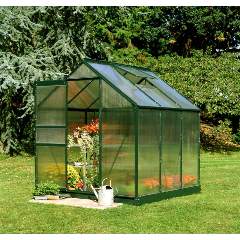 serre de jardin 3 8 m verte en polycarbonate popular halls. Black Bedroom Furniture Sets. Home Design Ideas