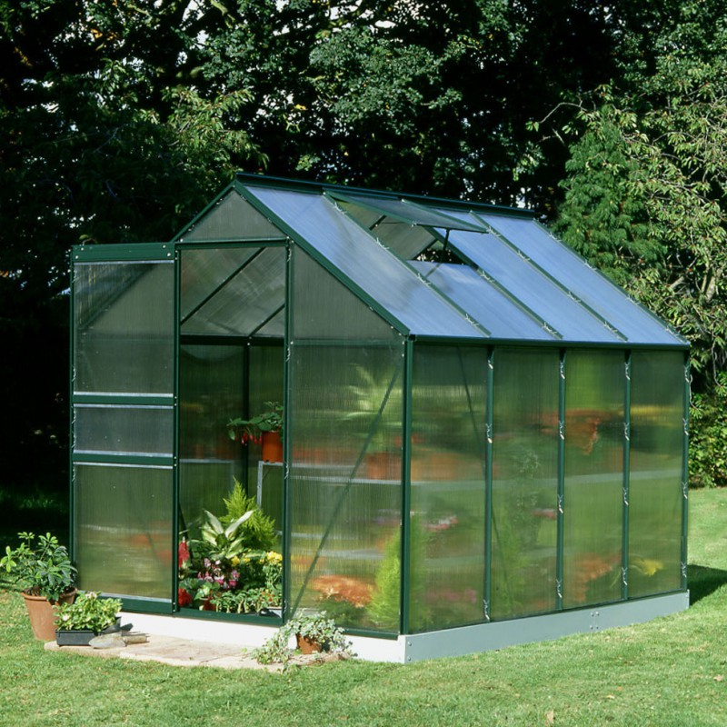 serre de jardin 5m verte en polycarbonate 4mm popular halls. Black Bedroom Furniture Sets. Home Design Ideas