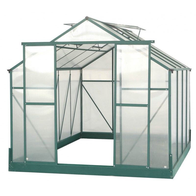 serre de jardin 7 08m polycarbonate 4mm embase. Black Bedroom Furniture Sets. Home Design Ideas