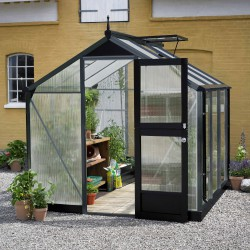 Serre Compact Nye 5m² anthracite en polycarbonate 10mm Juliana
