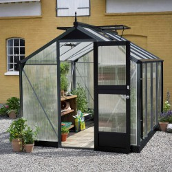 Serre anthracite 6,6m² en polycarbonate 10mm Compact Nye Juliana