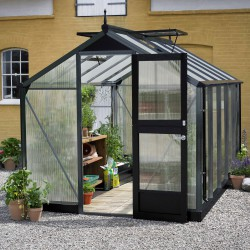 Serre anthracite 8,2m² en polycarbonate 10mm Compact Nye - Juliana