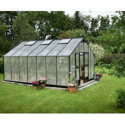Serre anthracite 18,8m² en polycarbonate 10mm Gardener - Juliana