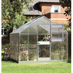 Serre de jardin 8,3m² en alu et polycarbonate 6mm Junior Juliana