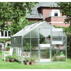 Serre de jardin 9,9m² en polycarbonate 6mm Junior Juliana