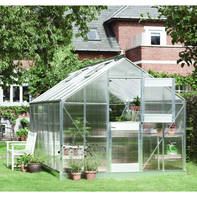 Serre de jardin 10 24m en polycarbonate 6mm junior juliana - Ma serre de jardin ...