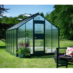 Serre anthracite 9,9m² en polycarbonate 6mm Junior Juliana