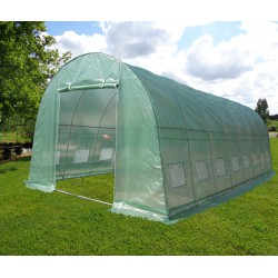 Serre tunnel  4x8m film 200gr/m² hauteur 2,3m Green Protect