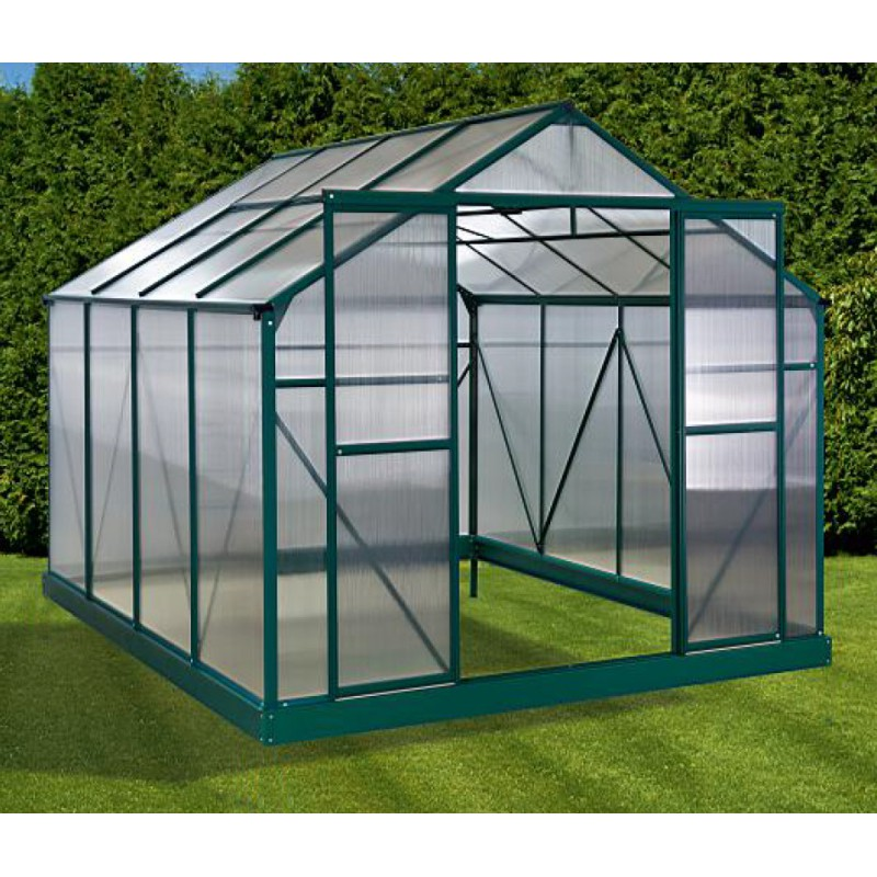 serre de jardin 7 1m verte polycarbonate 4mm embase green protect. Black Bedroom Furniture Sets. Home Design Ideas