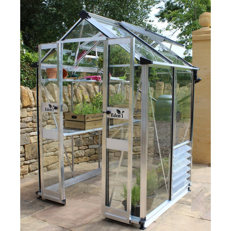 serre de jardin 1 95m en verre horticole birdlip eden greenhouses. Black Bedroom Furniture Sets. Home Design Ideas