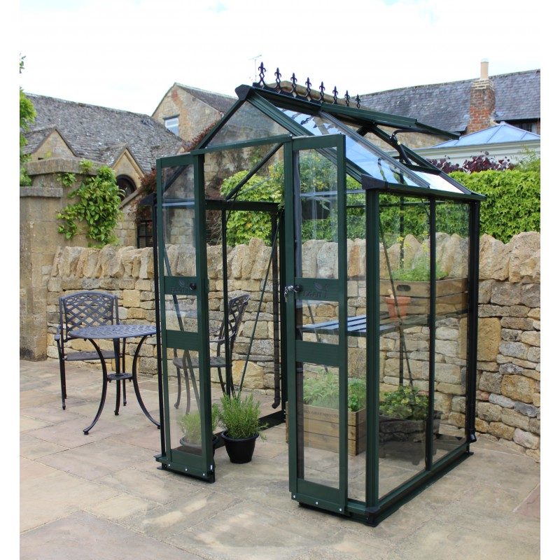 serre de jardin 1 95m en verre tremp birdlip verte eden greenhouses. Black Bedroom Furniture Sets. Home Design Ideas