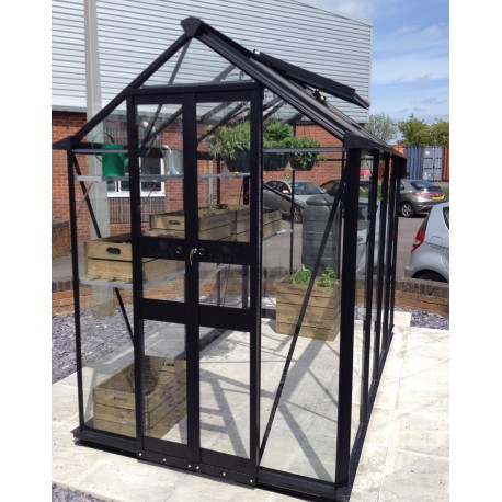 serre de jardin 1 95m verre tremp birdlip noire eden greenhouses. Black Bedroom Furniture Sets. Home Design Ideas
