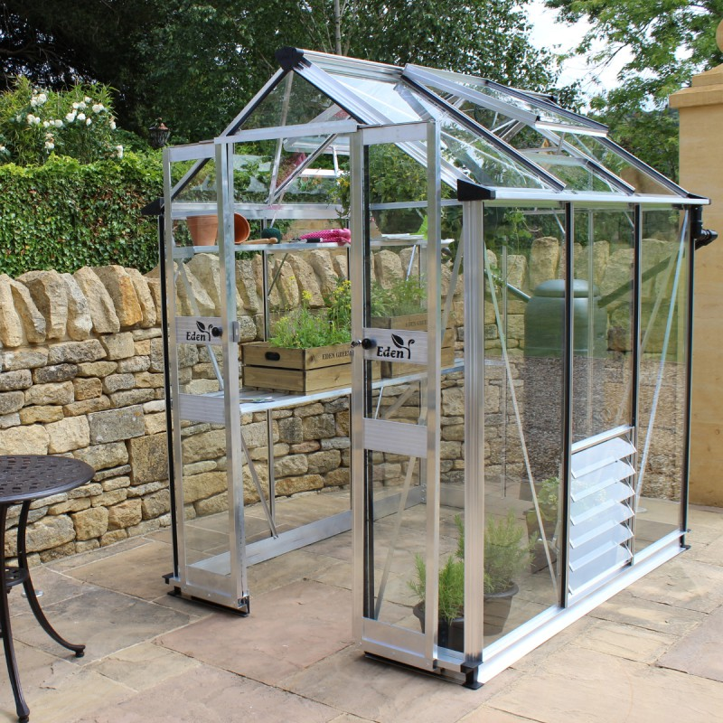 serre de jardin 2 87m en verre horticole birdlip eden greenhouses. Black Bedroom Furniture Sets. Home Design Ideas