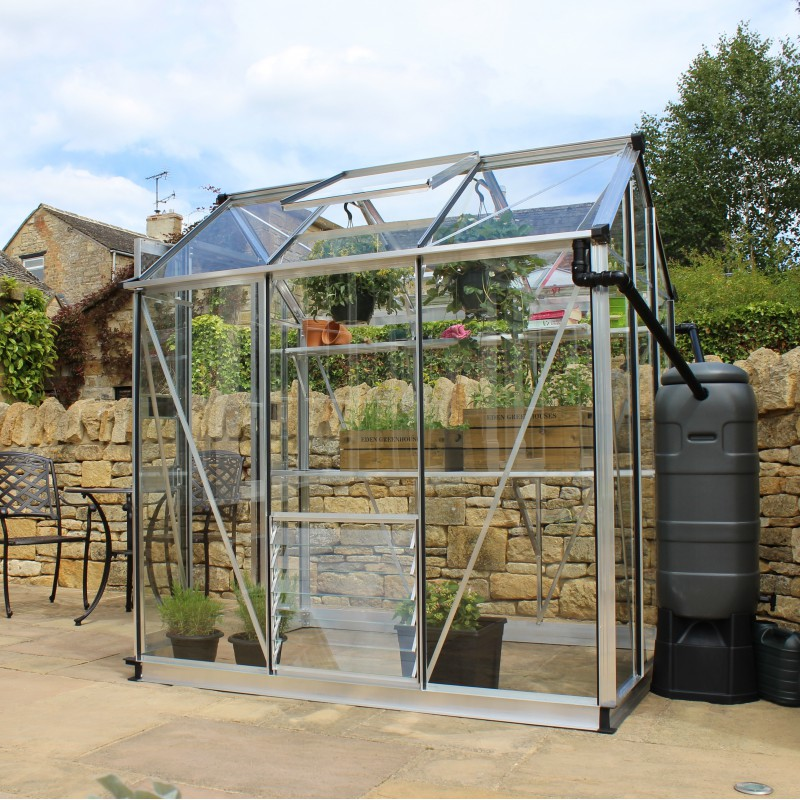 serre de jardin 2 87m alu et verre tremp birdlip eden greenhouses. Black Bedroom Furniture Sets. Home Design Ideas