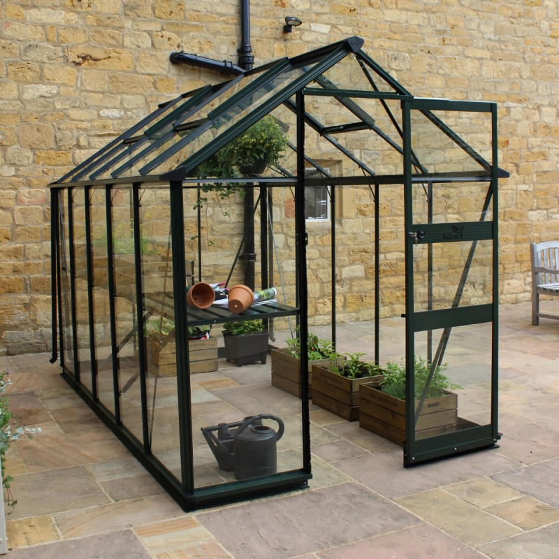 serre de jardin 6 17m verre horticole burford verte eden greenhouses. Black Bedroom Furniture Sets. Home Design Ideas