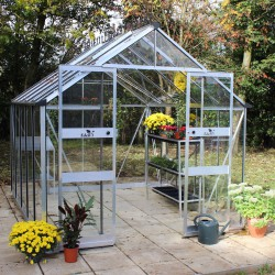 Serre de jardin 8,13m² en verre trempé BLOCKLEY - Eden Greenhouses