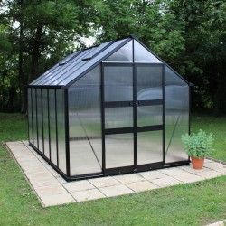 Serre de jardin 9,71m² polycarbonate 6mm BLOCKLEY noire Eden Greenhouses