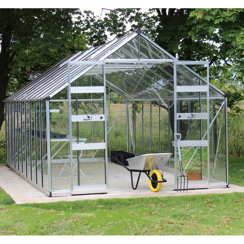 serre de jardin 19 92m en verre tremp bourton eden greenhouses. Black Bedroom Furniture Sets. Home Design Ideas