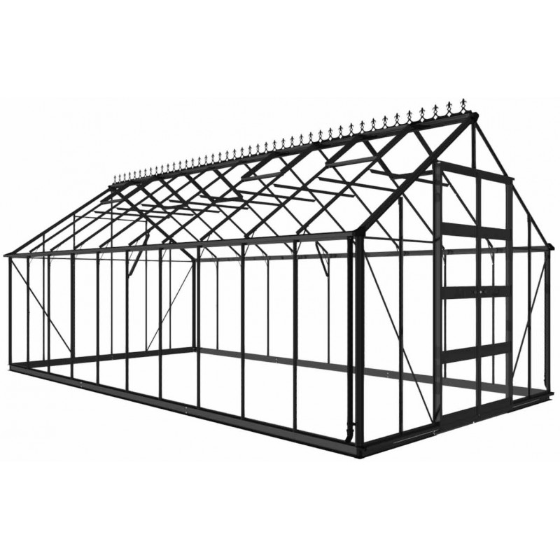 serre de jardin 19 92m en verre tremp bourton noire eden greenhouses. Black Bedroom Furniture Sets. Home Design Ideas