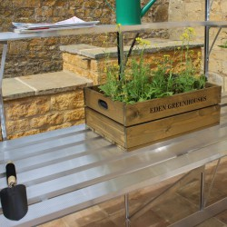 Table en aluminium 300x63cm pour serres BURFORD et BLOCKLEY Eden Greenhouses