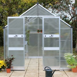 Serre de jardin 11,3m² en polycarbonate 6mm BLOCKLEY Eden Greenhouses