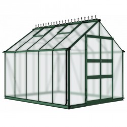 Serre de jardin 8,13m² en polycarbonate BLOCKLEY verte - Eden Greenhouses