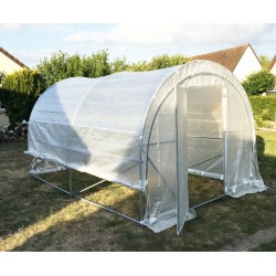 Serre tunnel maraîchère Luxe 3x4m - 200gr/m² H2,40m - Green Protect