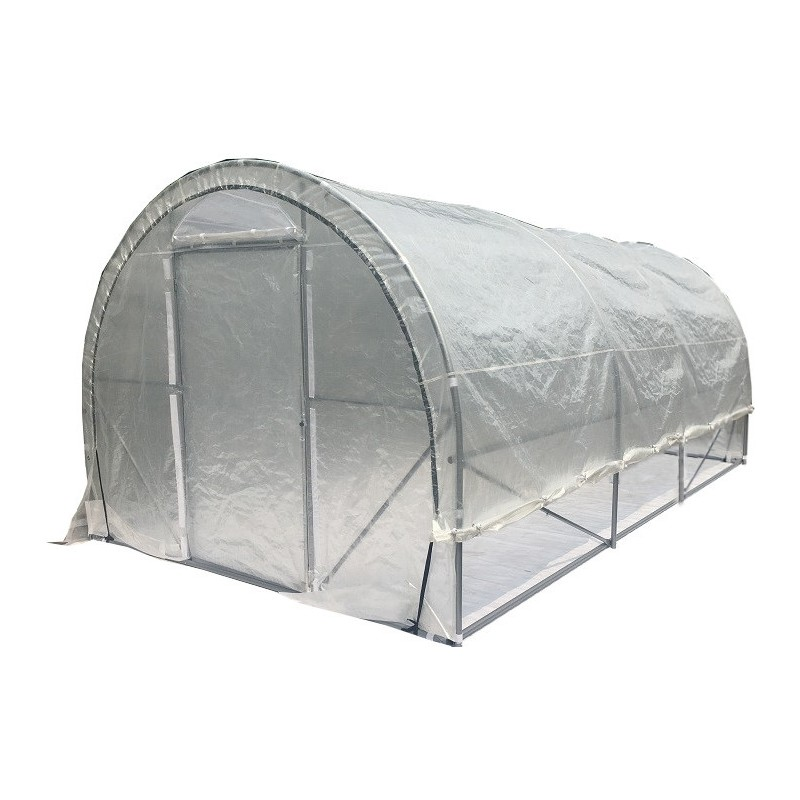 Serre tunnel mara ch re luxe 3x6m 200gr m h2 40m green protect - Comment monter une serre de jardin ...