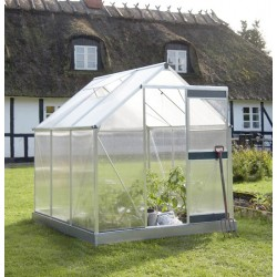 Serre de jardin 4,4m² polycarbonate 4mm Solargrow + embase - Juliana
