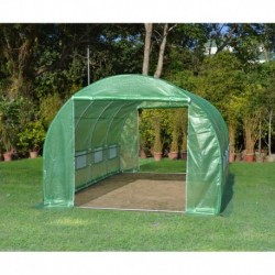 Serre tunnel 3x4,5m film 200gr/m² hauteur 2,25m Green Protect
