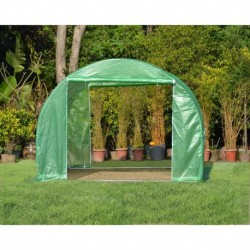 Serre tunnel 3x3m film 200gr/m² hauteur 2,25m Green Protect