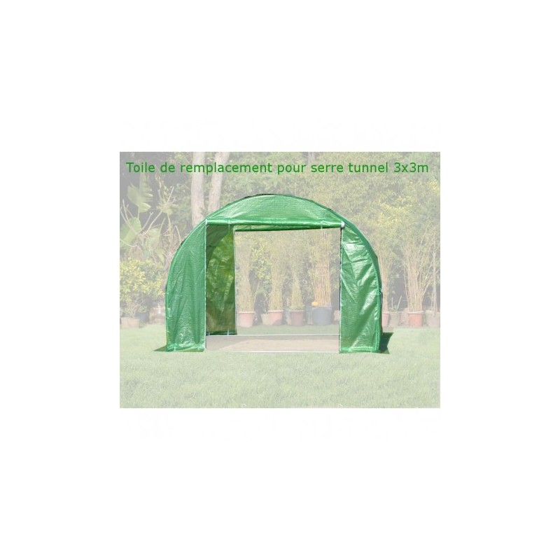 toile de rechange pour serre tunnel 3x3m 9m green protect. Black Bedroom Furniture Sets. Home Design Ideas