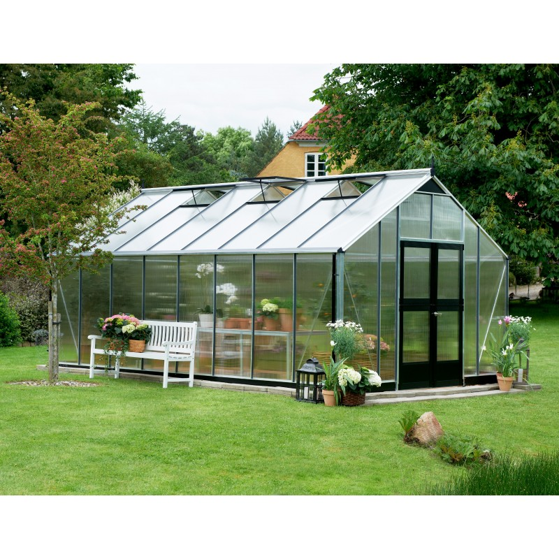 serre de jardin 16 2m en polycarbonate gardener juliana. Black Bedroom Furniture Sets. Home Design Ideas